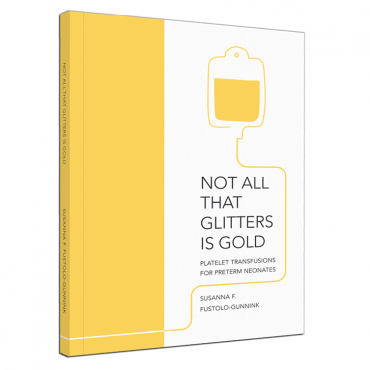 Proefschriftcover (kleur) Not all that glitters is gold - Suzanne Fustolo-Gunnink